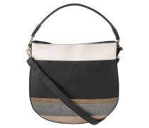 Handtasche, lebhafter Look, formschönes Design, Schwarz