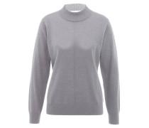Pullover, Stehkragen, Wolle, für Damen, Grau