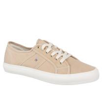 """Sneaker """"Zoe"""", Marken-Stickerei, Struktur-Oberfläche, Canvas, Beige"""