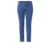 Jeans, Slim Fit, gerades Bein, Blau