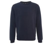 Sweatshirt, Baumwolle, strukturiert, Blau