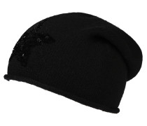 Mütze, Cashmere-Anteil, Strick, Rollsaum