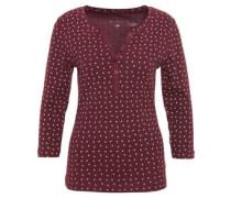 Shirt, 3/4-Arm, Blumen-Muster, Baumwolle