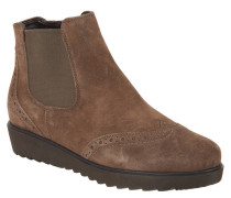 Chelsea Boot, Plateau-Sohle, Lyra-Lochung, Veloursleder, Braun