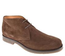 """Boots """"Claudio"""", geschnürt, Veloursleder, Lederfutter, Braun"""