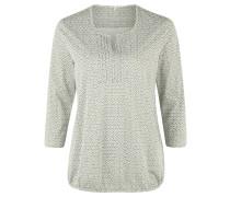 Shirt, 3/4 -Ärmel, gemustert, Gummizug, Oliv
