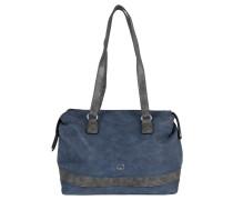 """Handtasche """"Happy Life"""", Lederimitat, zweifarbig, Blau"""
