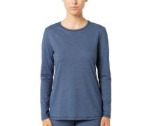 Wäsche-Shirt, Langarm, feuchtigkeitsregulierend, Blau