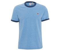 T-Shirt, Baumwolle, meliert, Logo-Patch