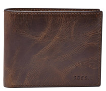 Brieftasche, Kreditkartenfächer, Leder, RFID Chip, Braun