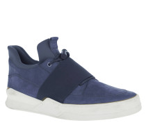 Sneaker, Quicklace, Gummiband, kontrastreiche Sohle, Blau