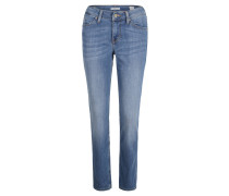 Jeans, Five-Pocket-Style, Slim Fit, Blau
