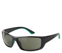 """Sportsonnenbrille """"ET19612"""", schwarzes Gestell, grüne Gläser"""