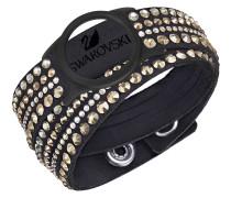 Activity Tracking Jewelry Armband, Slake, schwarz, Crystal Rose Gold, 522851
