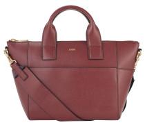 """Handtasche """"Helena"""", Rindsleder, goldfarbene Details, Rot"""