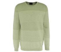 Pullover, Woll-Mix, Rundhals, strukturierte Blockstreifen