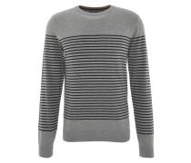 Pullover, Streifenmuster, Grau