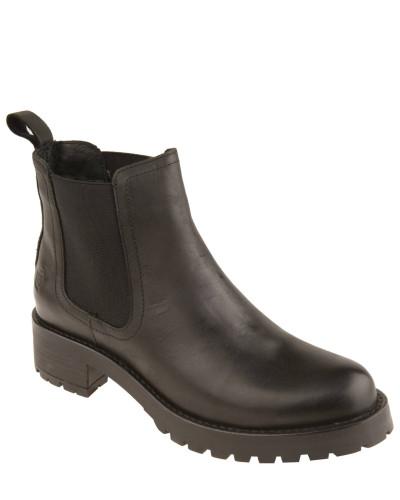 Chelsea Boots, uni, Profilsohle, Blockabsatz, Schwarz