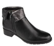 Ankle Boots, Leder, umgeschlagener Schaft