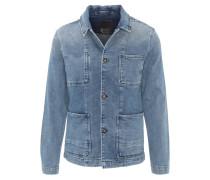 """Jeansjacke """"Bruler"""", große Taschen, kastiger Schnitt, Blau"""