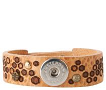 """Armband """"Hexagon"""", Leder, Nieten-Verzierungen"""