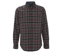 Freizeithemd, Karo-Muster, Comfort Fit, Baumwolle, Grün
