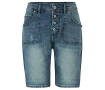"""Jeans-Shorts """"Bermuda"""", verwaschen, tapered, Blau"""