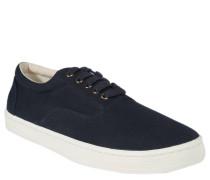 Sneaker, Canvas, strukturierte Blende, Blau