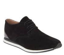 Sneaker, Veloursleder-Optik, geschnürt, uni