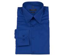 Businesshemd, Body Fit, Langarm, Blau
