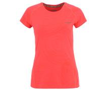 Trainingsshirt, Allover-Print, strechtig, für Damen, Pink