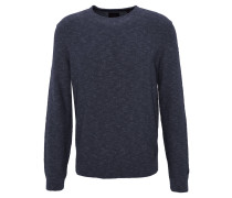 Pullover, meliert, Rippbündchen, Blau