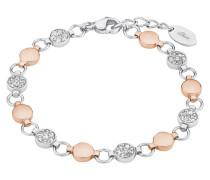 Armband mit Swarovski-Kristallen, Edelstahl, rosevergoldet
