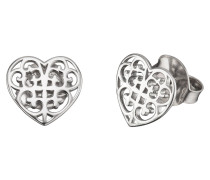 Ohrstecker Ornament Herz Silber ERE-ORNAHEART-ST