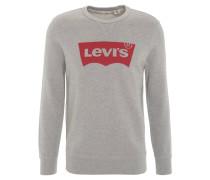 Sweatshirt, Logo-Print, angeraute Innenseite, Grau