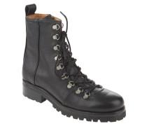 Boots, Profilsohle, Schnürung, Schwarz