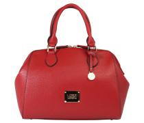 Handtasche, Lederimitat, Standfüße, Rot