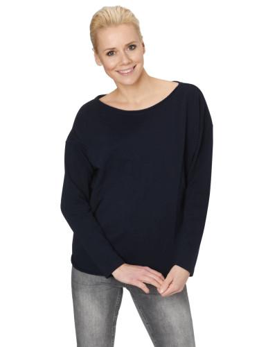 Sweatshirt, Rollsaum-Abschlüsse, Label-Stickerei