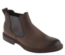 Chelsea Boots, Leder, Farbverlauf, Wechselsohle, Braun