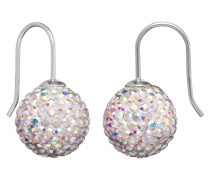 Ohrhänger Crystall Ball weiß S