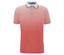 Poloshirt, Punkte, reine Baumwolle, Rot