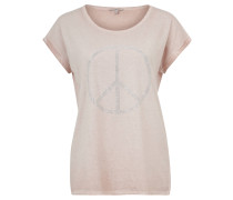 T-Shirt, Strass, Used-Effekt, Umschlag-Ärmel