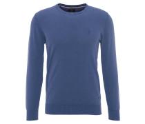 Strickpullover, Rundhals, Vintage-Look, Blau