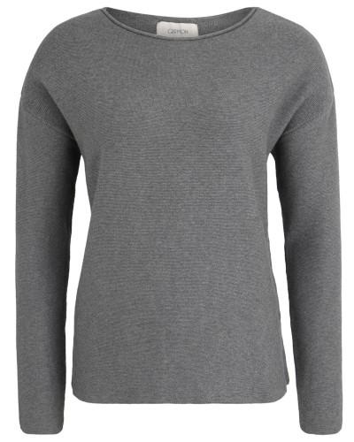 Pullover, Feinstrick, Baumwolle, Grau