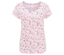 T-Shirt, Baumwolle, Rundhalsausschnitt, florales Muster