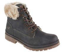 Boots, Kunstfell-Besatz, Reißverschluss, Profilsohle, Grau