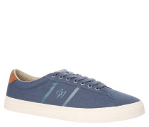 Sneaker, Canvas, Emblem, Recovery-Foam-Sohle, Blau