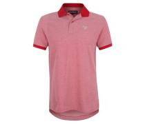 Poloshirt, Piqué-Muster, Logo-Stickerei, Rot