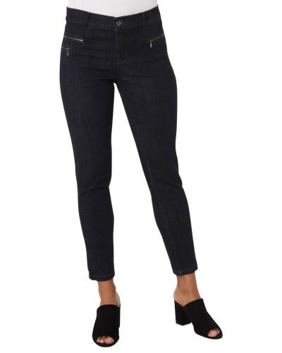 Jeans, Slim Fit, Reißverschlusstaschen, Ziertasche