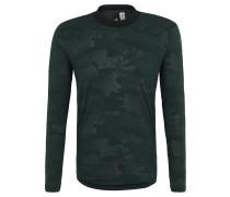 Langarmshirt, Rippbündchen, Camouflage, für Herren, Grün